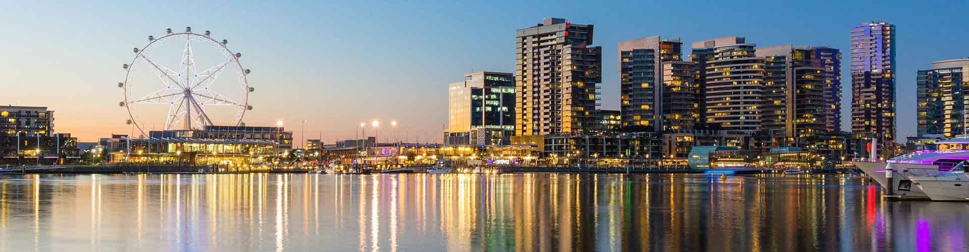 Melbourne – Hotellit kaupungiosassa Docklands. Melbourne -karttoja, valokuvia ja arvosteluja kaikista Melbourne -hotelleista.