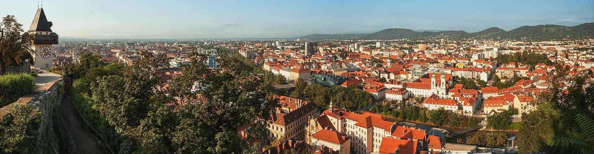 Graz – Hostellit kohteessa Graz. Graz -karttoja, valokuvia ja arvosteluja kaikista Graz -hostelleista.