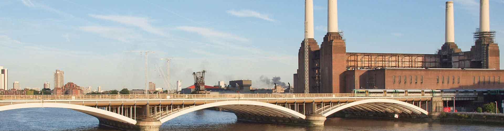 Lontoo – Hostellit lähellä Battersean voimalaitos. Lontoo -karttoja, valokuvia ja arvosteluja kaikista Lontoo -hostelleista.
