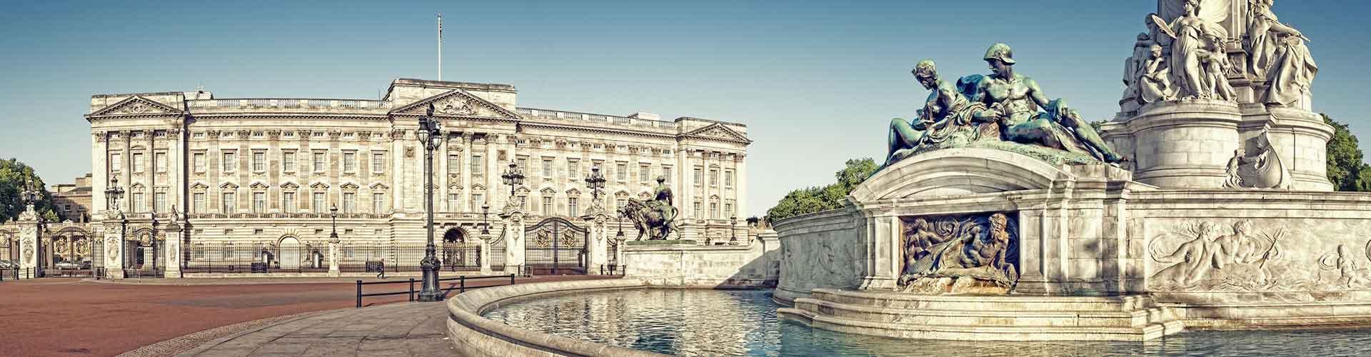 Lontoo – Hostellit lähellä Buckinghamin palatsi. Lontoo -karttoja, valokuvia ja arvosteluja kaikista Lontoo -hostelleista.