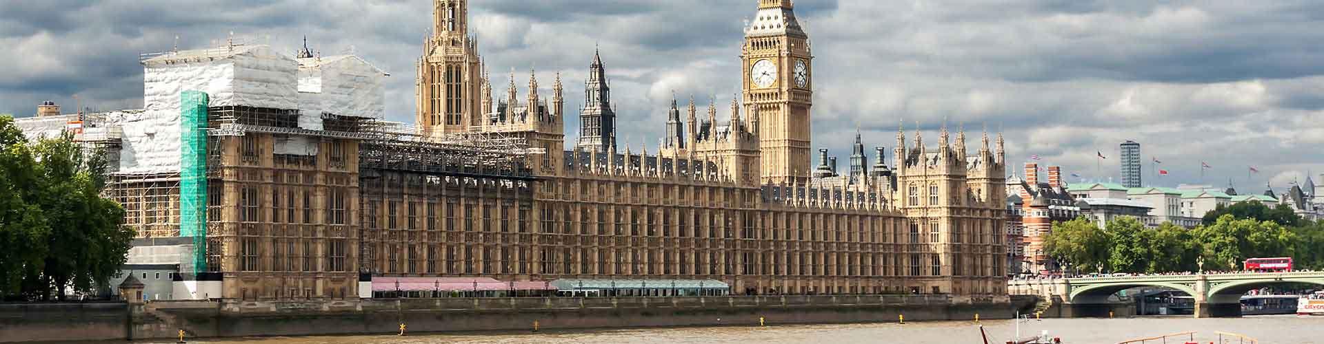 Lontoo – Hostellit lähellä Westminsterin palatsi. Lontoo -karttoja, valokuvia ja arvosteluja kaikista Lontoo -hostelleista.