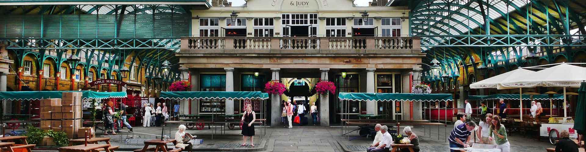 Lontoo – Hostellit lähellä Covent Garden Piazza. Lontoo -karttoja, valokuvia ja arvosteluja kaikista Lontoo -hostelleista.