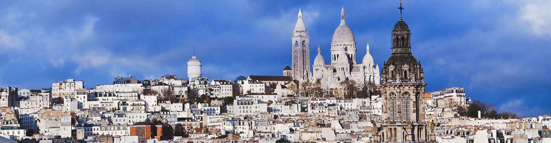 Pariisi – Retkeily kaupungiosassa Montmartre. Pariisi -karttoja, valokuvia ja arvosteluja kaikista Pariisi -retkeilyalueista.