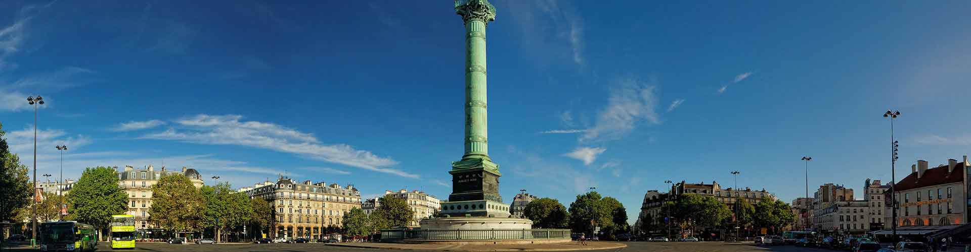 Pariisi – Retkeily kaupungiosassa Quartier de la Bastille. Pariisi -karttoja, valokuvia ja arvosteluja kaikista Pariisi -retkeilyalueista.