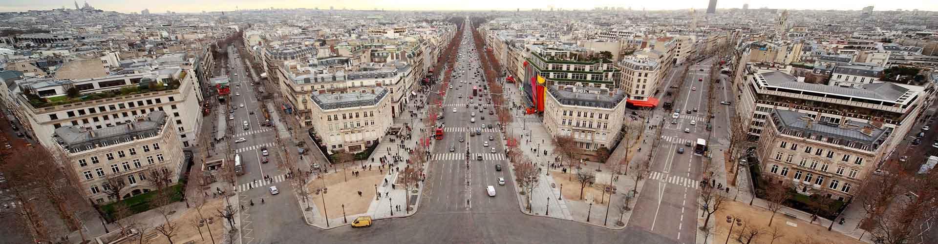 Pariisi – Hostellit lähellä Boulevard Haussmann. Pariisi -karttoja, valokuvia ja arvosteluja kaikista Pariisi -hostelleista.