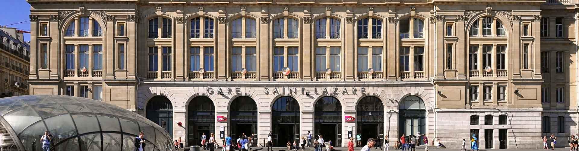 Pariisi – Hostellit lähellä Gare Saint-Lazare rautatieasema. Pariisi -karttoja, valokuvia ja arvosteluja kaikista Pariisi -hostelleista.