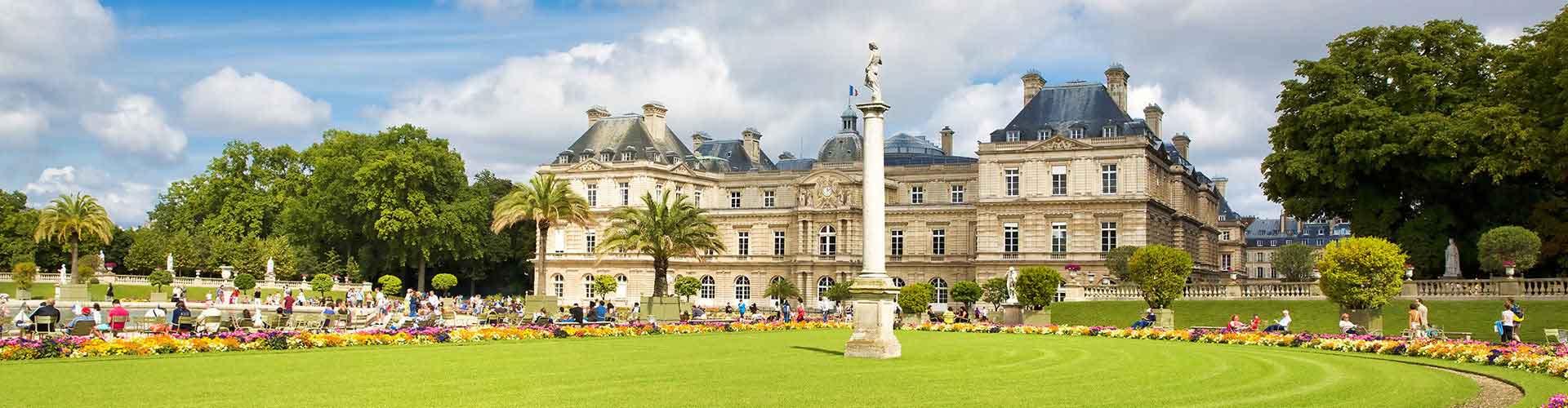 Pariisi – Hostellit lähellä Jardin du Luxembourg. Pariisi -karttoja, valokuvia ja arvosteluja kaikista Pariisi -hostelleista.