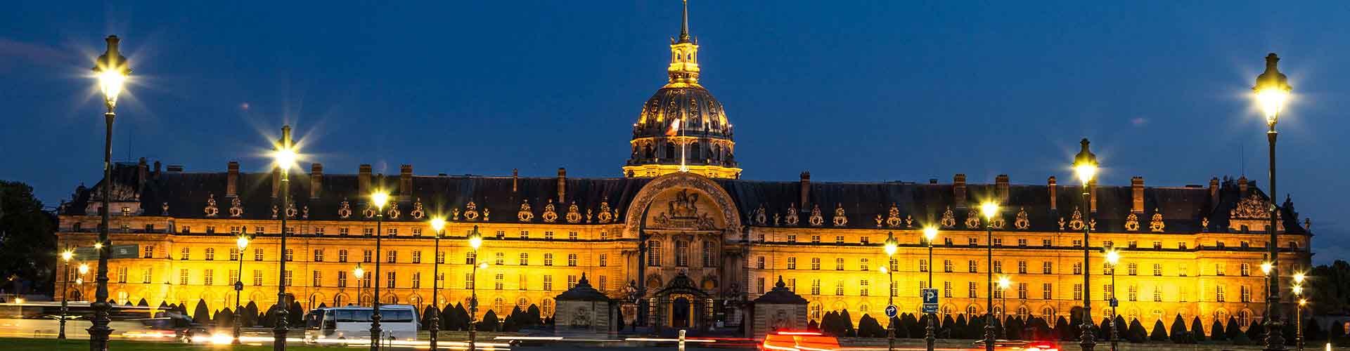 Pariisi – Hostellit lähellä Les Invalides. Pariisi -karttoja, valokuvia ja arvosteluja kaikista Pariisi -hostelleista.