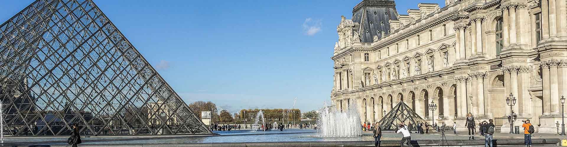 Pariisi – Hostellit lähellä Louvre. Pariisi -karttoja, valokuvia ja arvosteluja kaikista Pariisi -hostelleista.