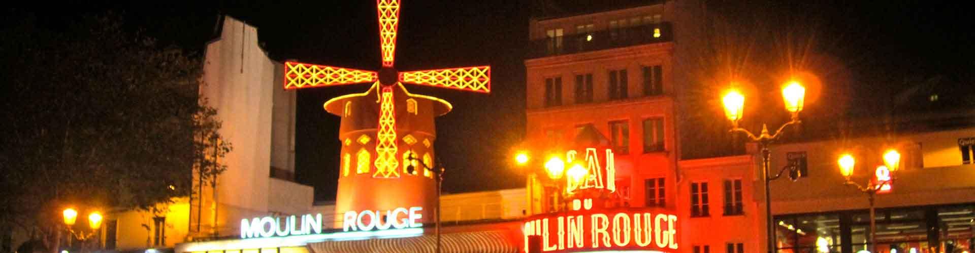 Pariisi – Hostellit lähellä Moulin Rouge. Pariisi -karttoja, valokuvia ja arvosteluja kaikista Pariisi -hostelleista.