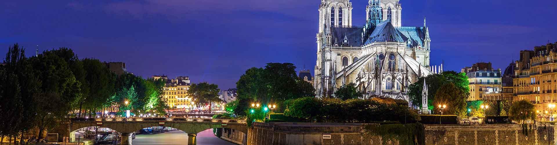 Pariisi – Hostellit lähellä Notre Dame de Paris. Pariisi -karttoja, valokuvia ja arvosteluja kaikista Pariisi -hostelleista.