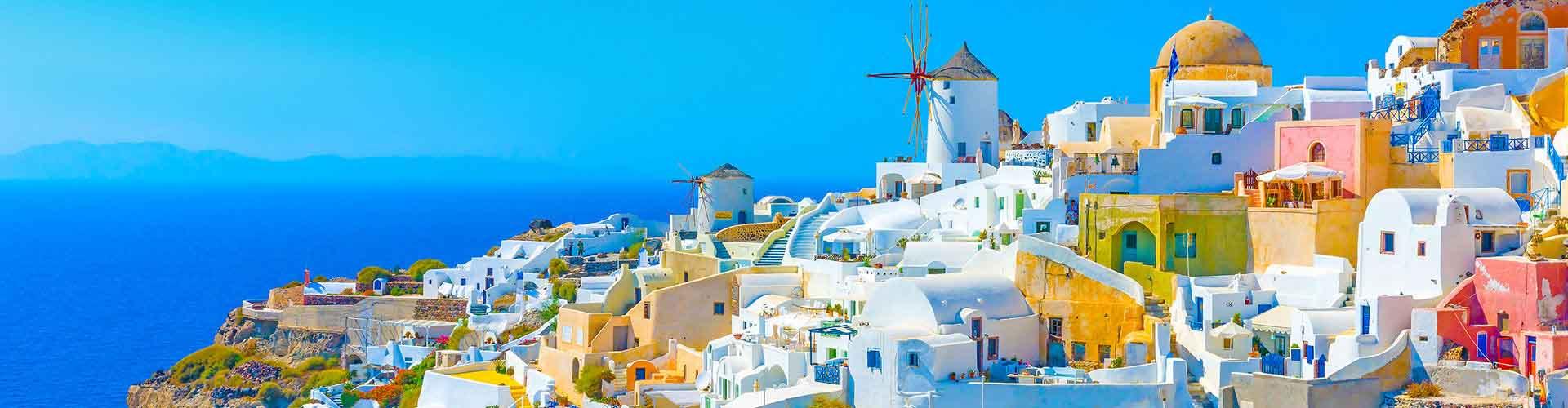 Santorini – Hostellit kohteessa Santorini. Santorini -karttoja, valokuvia ja arvosteluja kaikista Santorini -hostelleista.