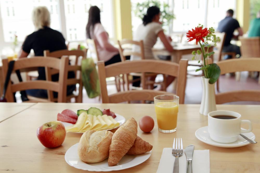A & O Münchenin keskusasema aamiaisalueella