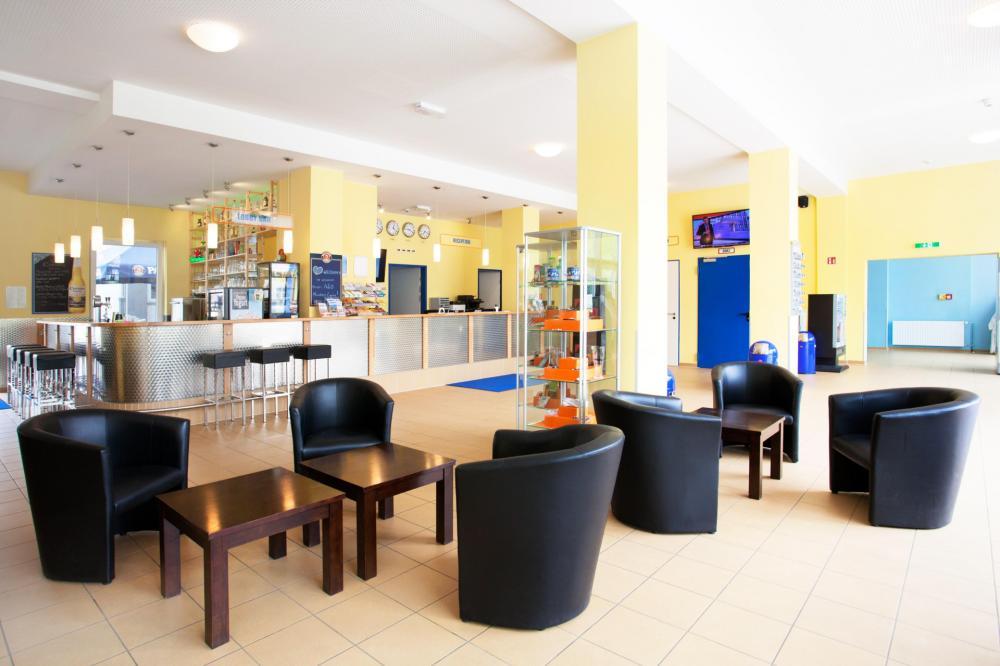A & O Munich Laim -hotellin aulassa