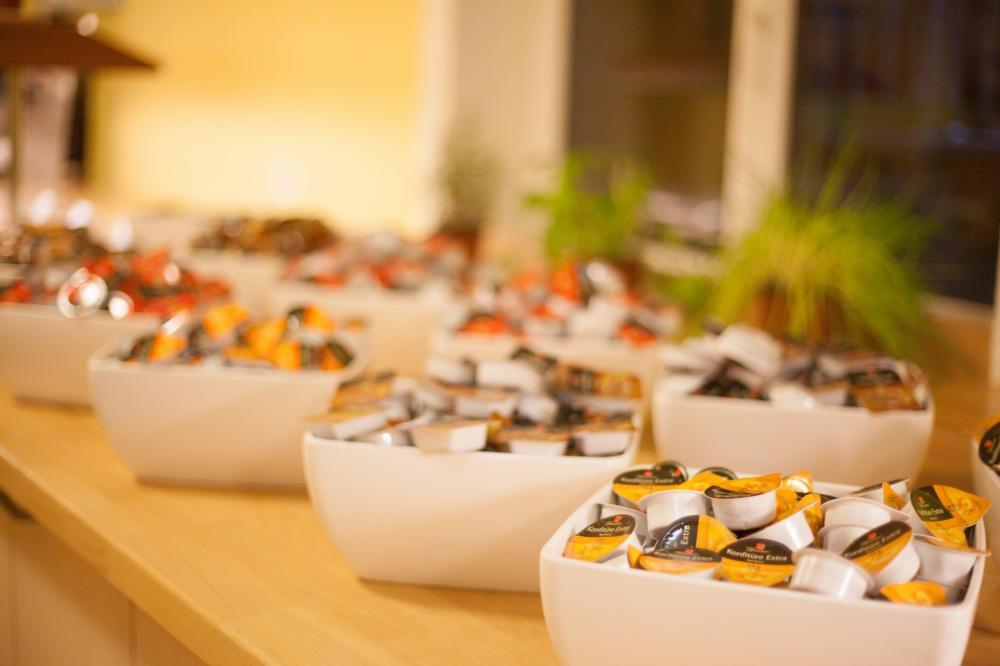 A & O Wienin HB Hostel -buffet-aamiainen