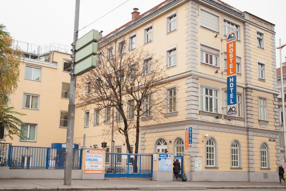 A & O Wien Stadthalle Hostel julkisivu