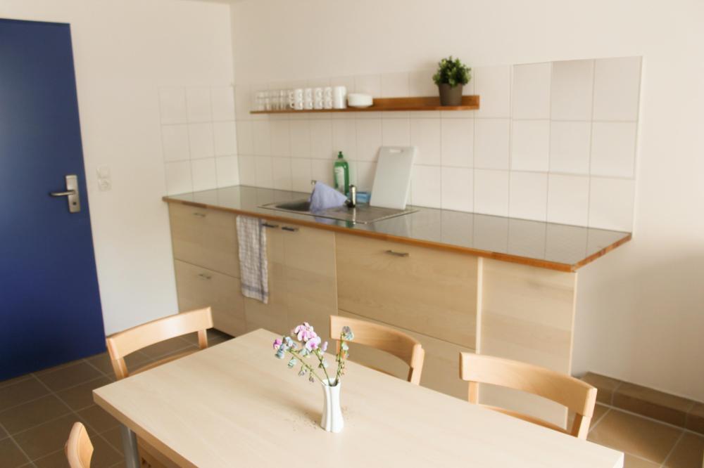 A & O Wienin Stadthalle-hostelli-keittiö